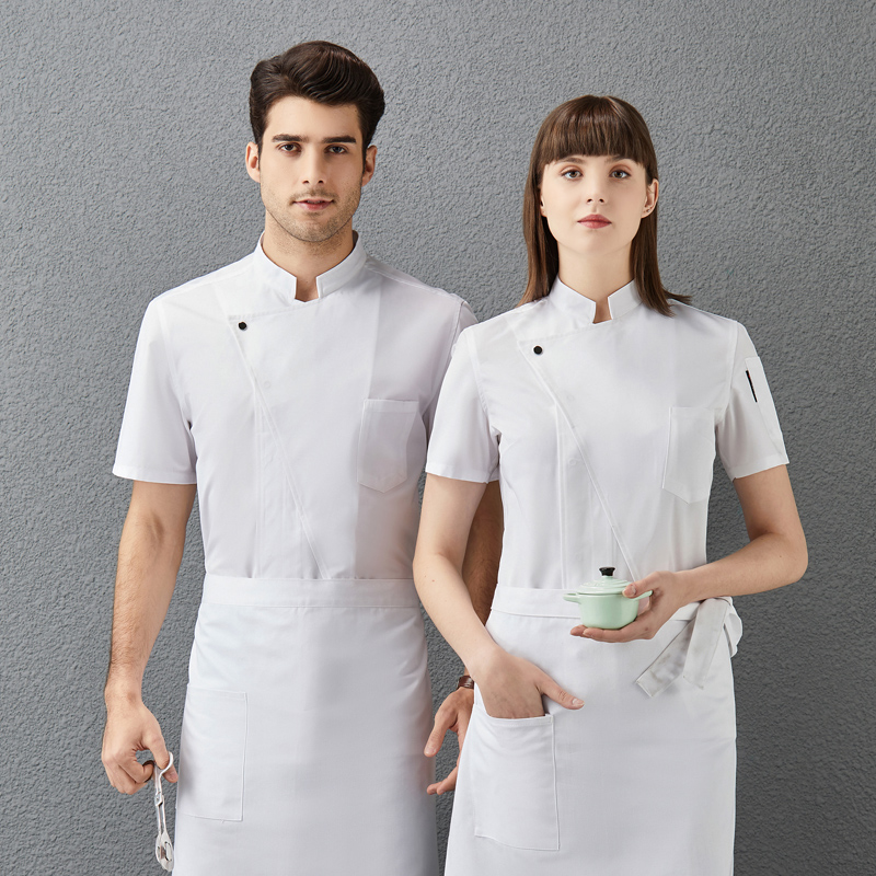 Hotel chefs clothes short sleeve Korean Bakers work clothes French Bakers uniform pastry makers work clothes baking clothes