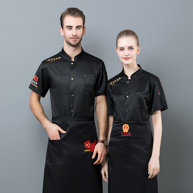 2019 new chefs short sleeve summer clothes bakery pastry master uniform hotel restaurant chefs work clothes