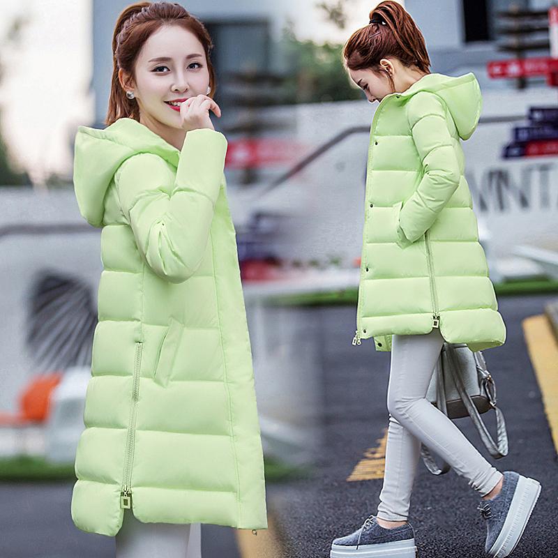2018冬季韩版棉衣女中长款学生修身棉袄加厚羽绒棉服外套女装潮