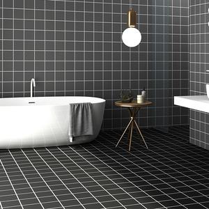 卫生间防水耐磨自粘地贴墙贴厕所浴室地砖地板贴纸墙壁纸瓷砖贴纸