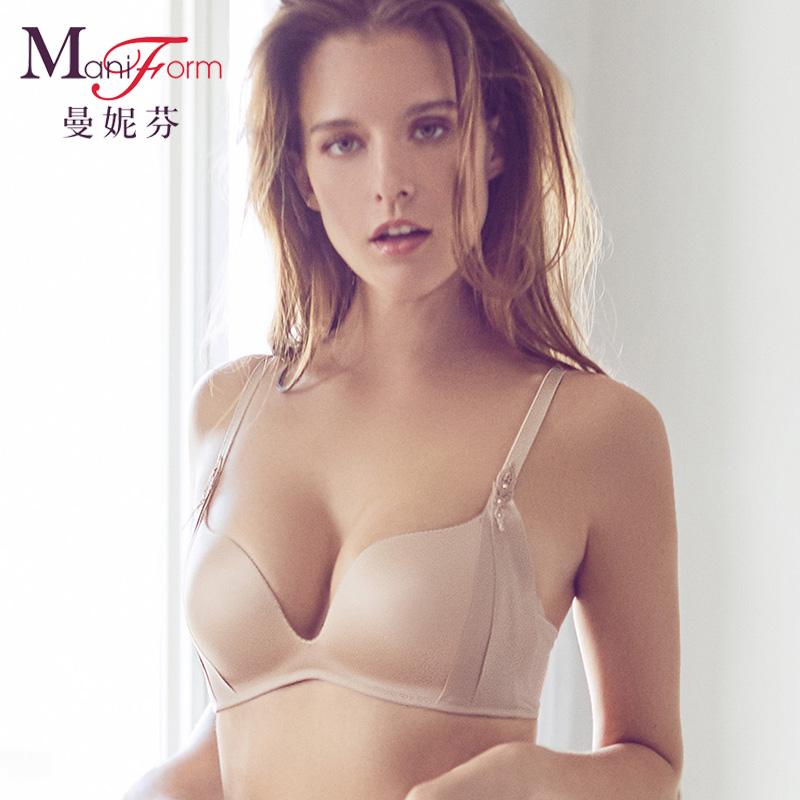 18春夏曼妮芬舒适无钢圈减压无痕文胸舒适包容侧收稳定调整内衣女