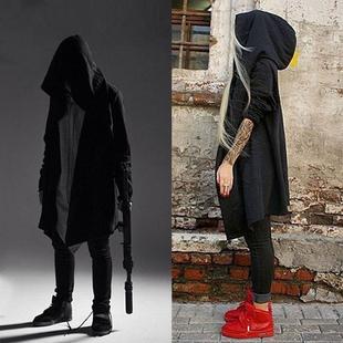 暗黑系秋冬刺客信条风衣男女中长款连帽巫师斗篷披风薄款外套大衣