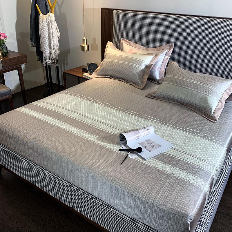 美式简约冰丝三件套款全包水洗床笠