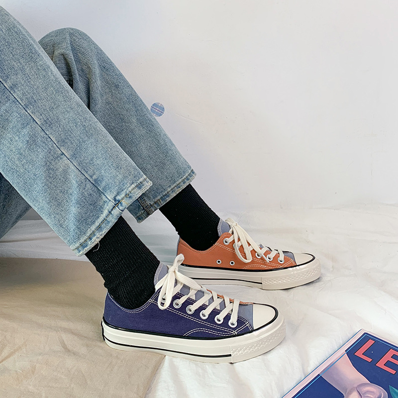 2020 new canvas shoes womens leisure spring thin ulzzang vulcanized shoes simple and light womens small white shoes