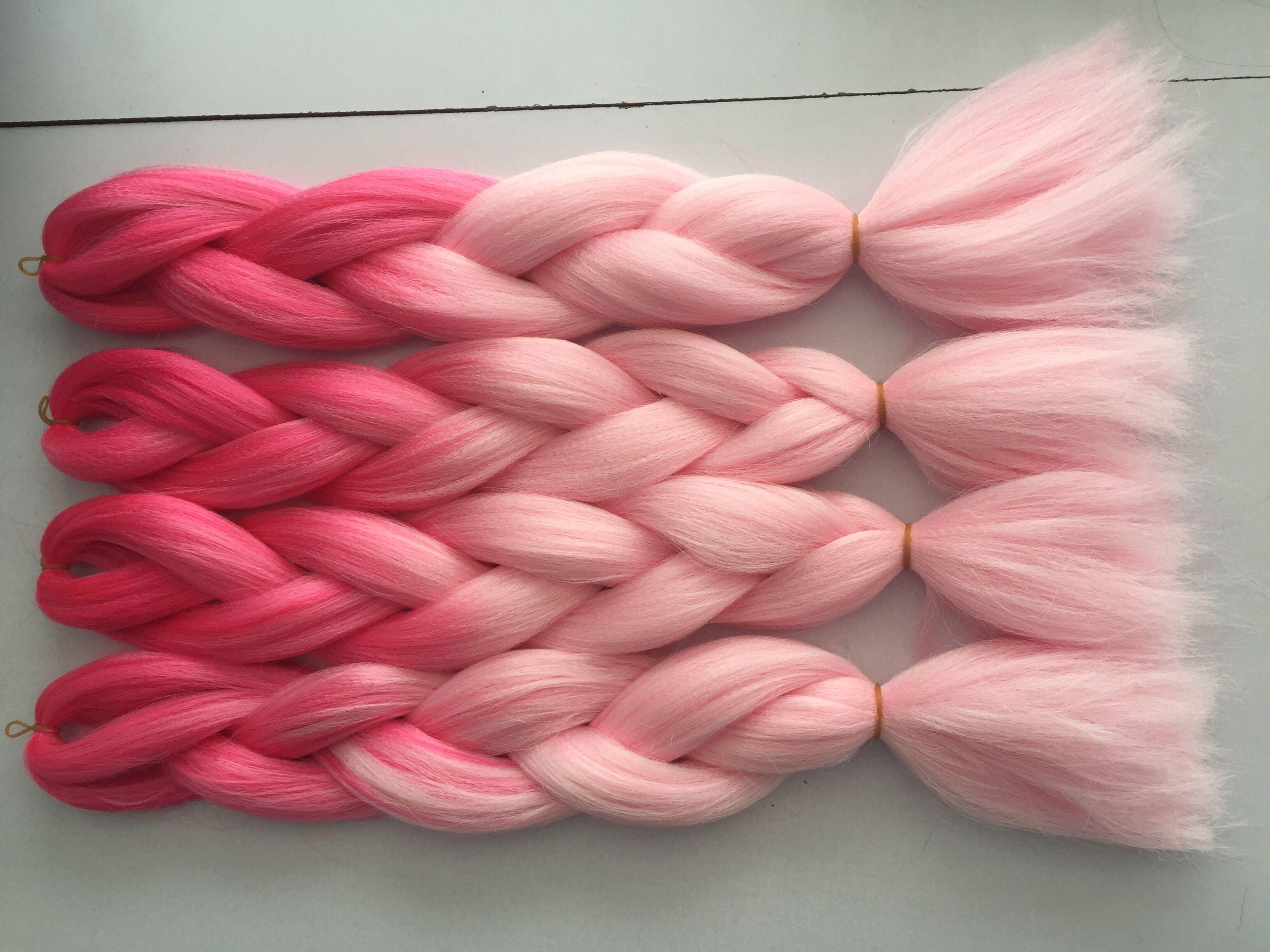 60cm Ombre Kanekalon Synthetic Braiding Hair假发化纤漂亮脏辫