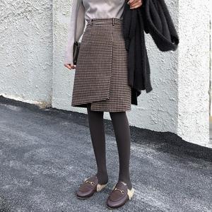 2020年春装新款大码女装冬装微胖人半身裙子遮胯洋气显瘦短裙潮流