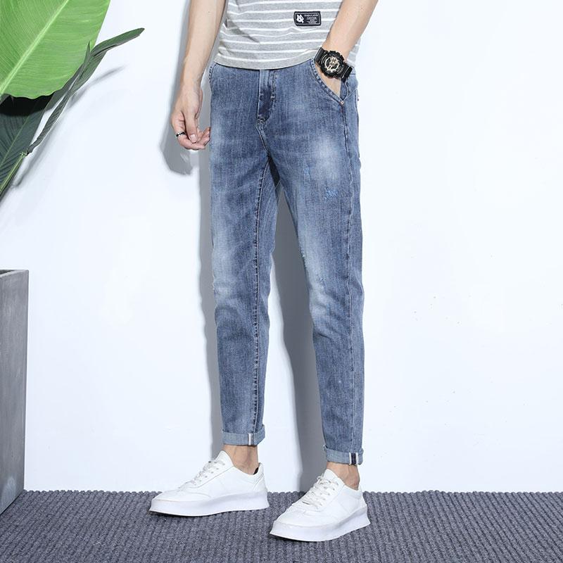 高质量牛仔裤男裤子修身韩版春夏百搭潮流男士休闲裤春季K325-P50
