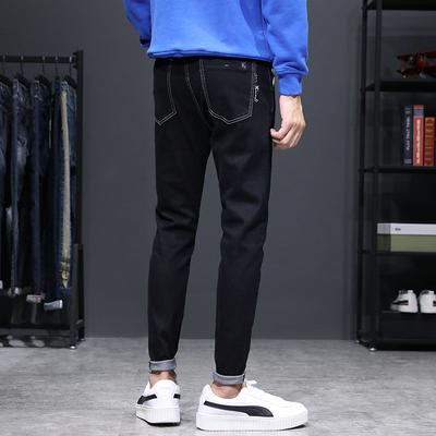 秋季新品 韩版弹力修身小脚灰色长裤百搭休闲牛仔裤男K615-P48