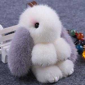 水貂毛绒超萌小兔子可爱包包挂件女真可爱装死正版汽车钥匙扣挂饰