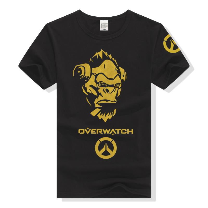 Watch the vanguard game surrounding clothes of Yuanshi all hero death ass mens and womens short sleeve T-shirt stamping