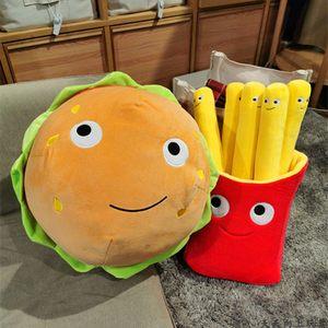 仿真汉堡薯条吃货零食抱枕儿童玩偶少女心毛绒玩具送同学生日礼物