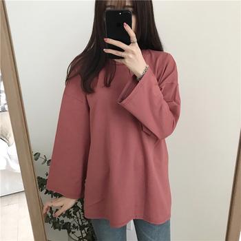 纯色长袖t恤女2020新款韩版打底衫