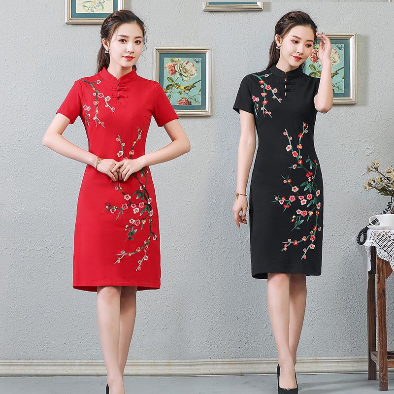 中国风2019夏季新款民族风连衣裙(非品牌)