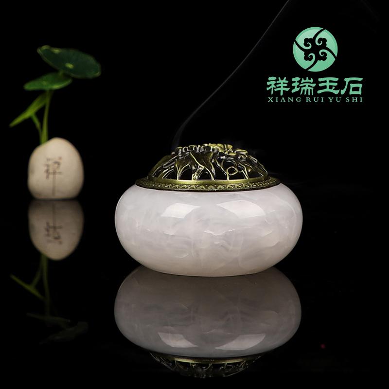 天然玉香炉の大きいサイズの白檀の香ばしいストーブのアイデアの家庭用室内は仏陀にほこりの皿の禅のイタリアの茶道をつなぎます。