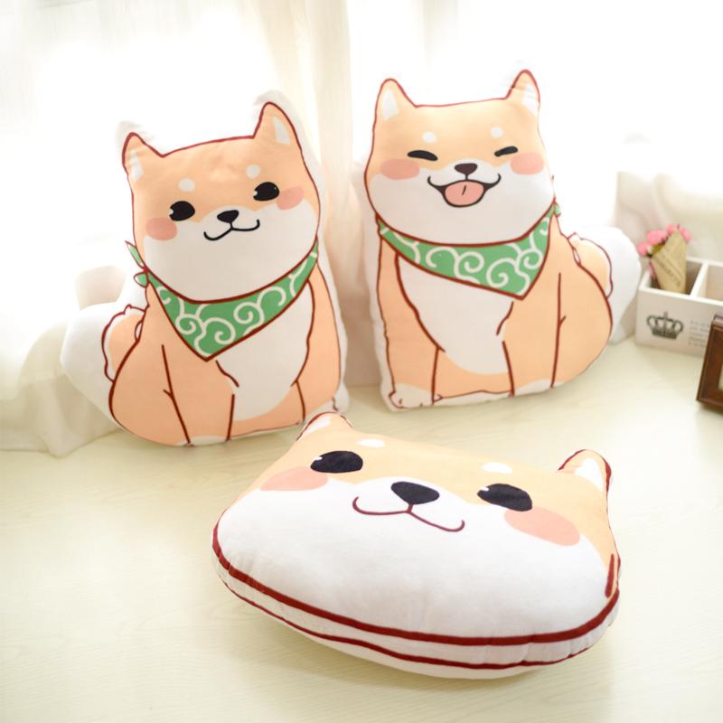 (用10.5元券)狗年大吉柴犬秋田犬汽车卧室抱枕