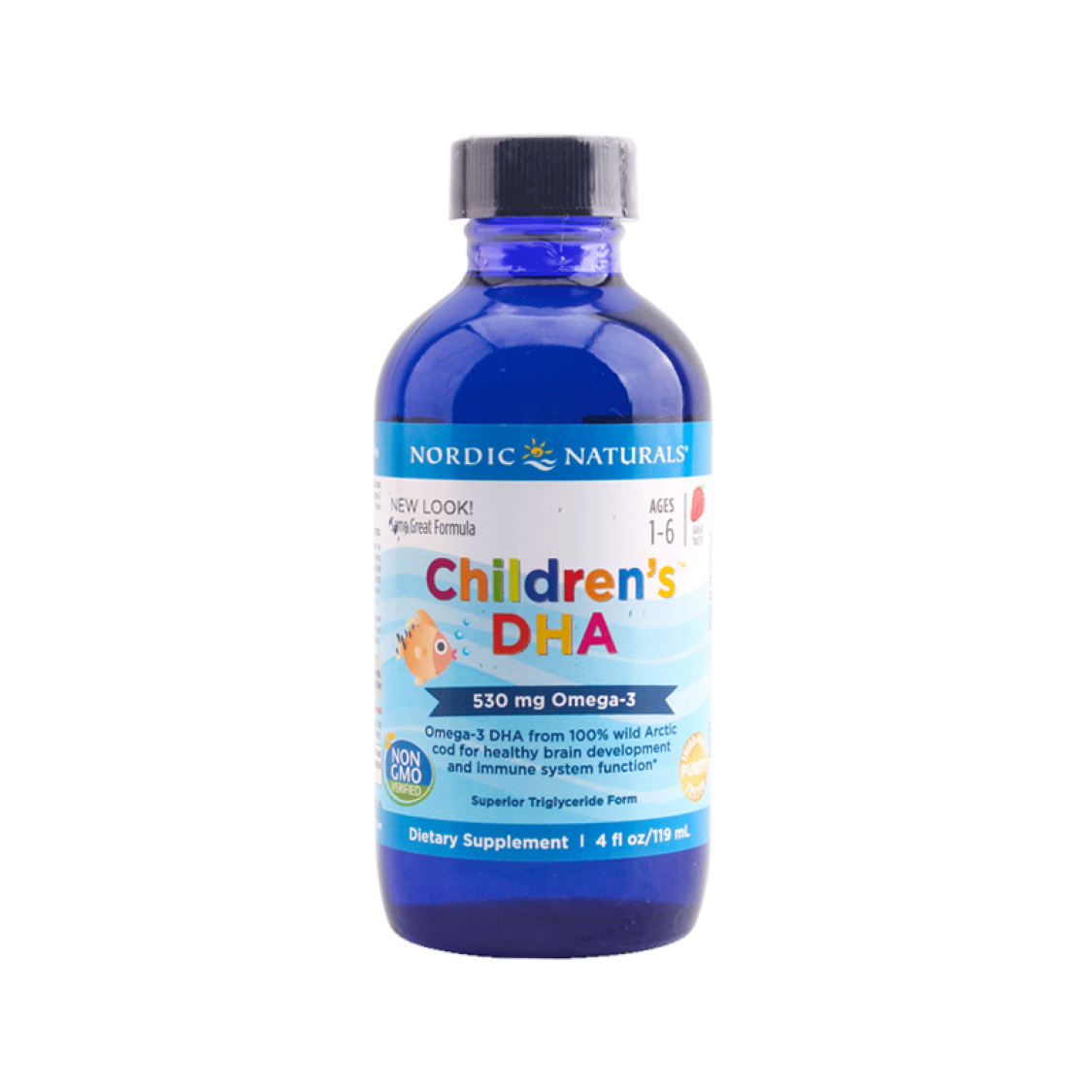 New Zealand direct mail Nordic Naturals Norway small fish children DHA cod liver oil 119ml strawberry flavor