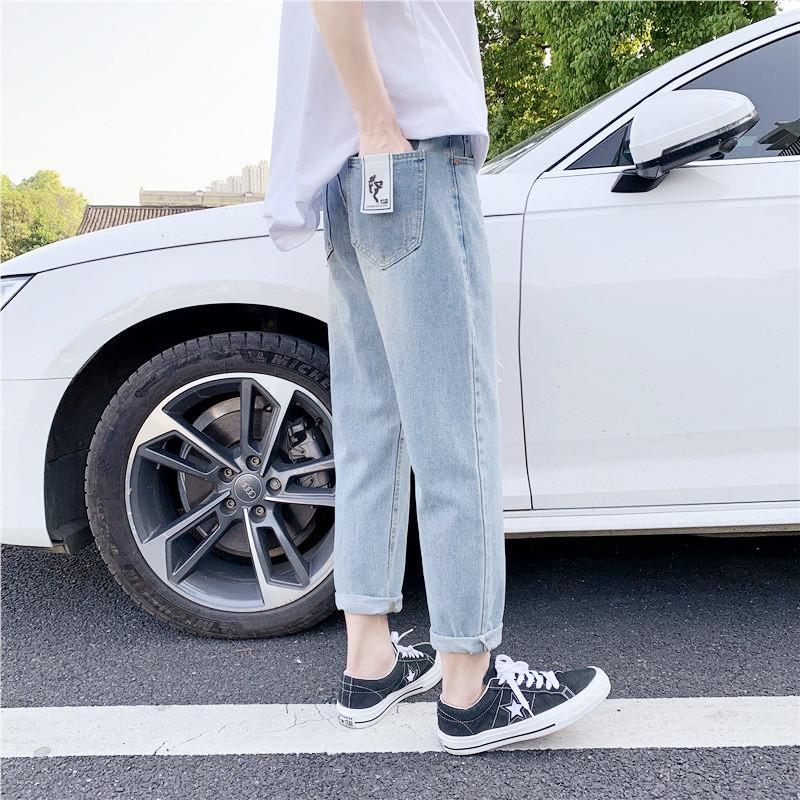 男新款日系港风精品牛仔裤休闲男女裤子714-x905-p50