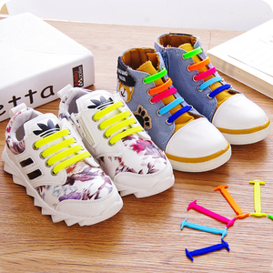 Coolnice儿童鞋带扣女小白鞋板鞋帆布鞋免系松紧免绑弹力懒人鞋带