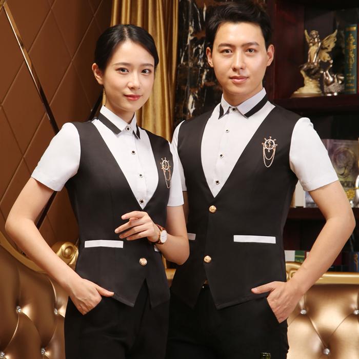 KTV attendant work clothes hotel work clothes restaurant vest LONG SLEEVE suit bar club staff clothes