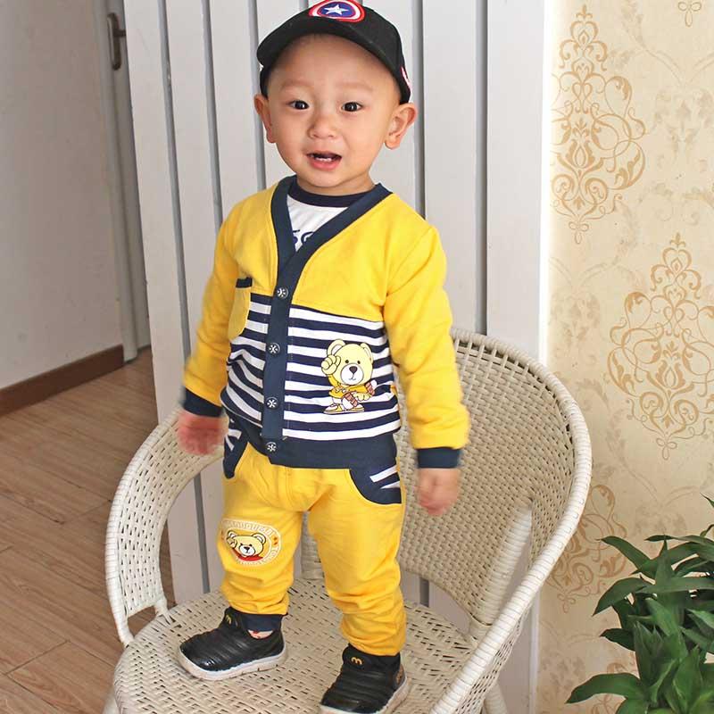 童装秋季男童装秋款二件套婴儿童装0-3岁纯棉小孩衣服宝宝外出服