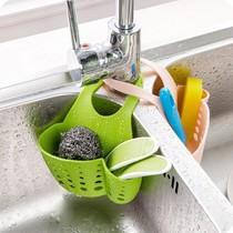 厨房用品海绵收纳置物架收纳架塑料沥水架台面清洁抹布架巧居家