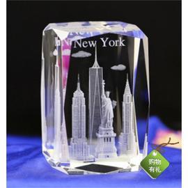 纽约3D水晶内雕城市风光摆件送朋友旅游纪念品DIY创意漂亮可定制图片