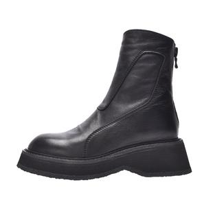 四季馬丁靴女2020新款百搭英倫風ins網紅瘦瘦中筒靴鬆糕厚底女靴
