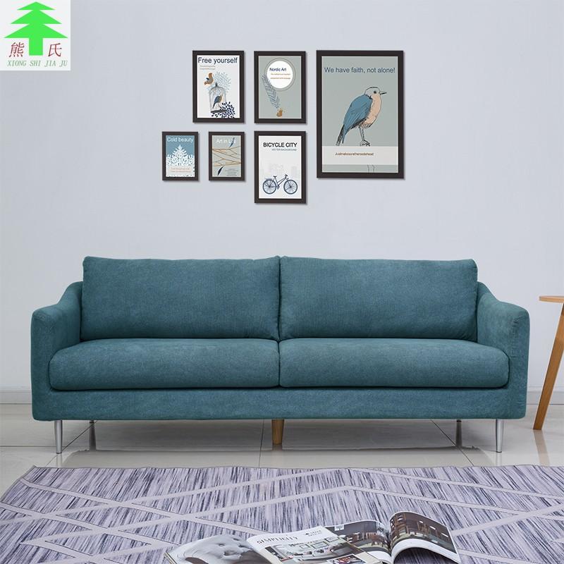 热销0件限时抢购布艺北欧简约现代客厅两人双人沙发