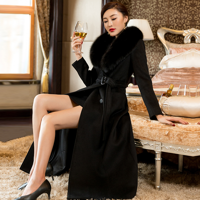 Winter 2020 new style thin high grade cashmere coat