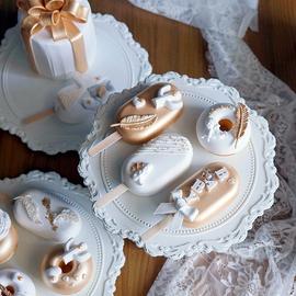 仿真点心 北欧INS风格白金色调仿真甜甜圈道具 网红冰棍雪糕图片