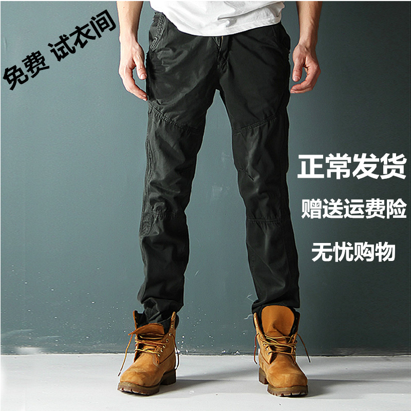 Autumn and winter overalls mens casual pants straight slim outdoor pants loose sports pants military mens pants