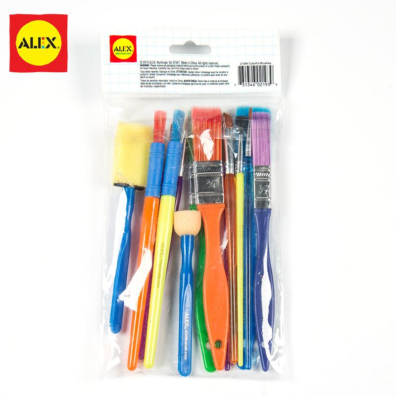 Значение 15 ручка щетка установите германия ребенок щетка живопись кисти мойка граффити инструмент щетка детский сад