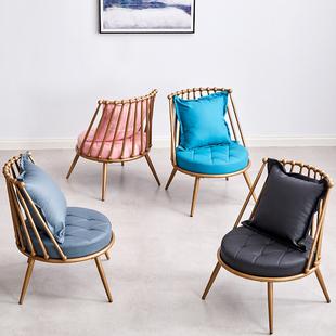 铁艺沙发椅简约现代服装店ins网红小户型客厅阳台小沙发懒人沙发