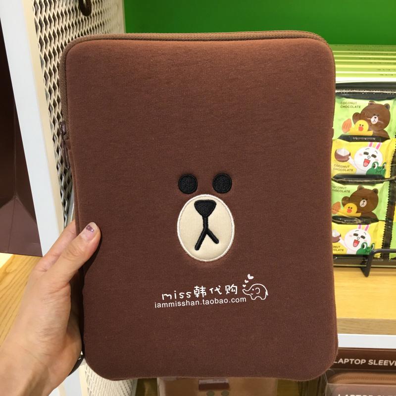 韩国采购Line Friends布朗 平板电脑包内胆包保护套通用苹果IPAD