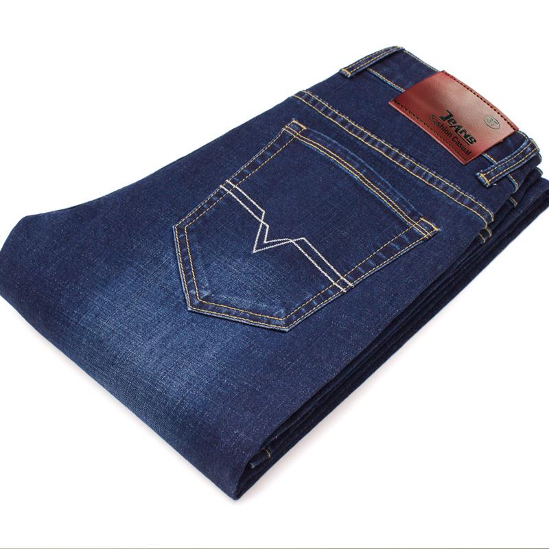 彈力牛仔褲男土直筒夏季薄款中年人男子寬鬆休閑商務男褲子修身型