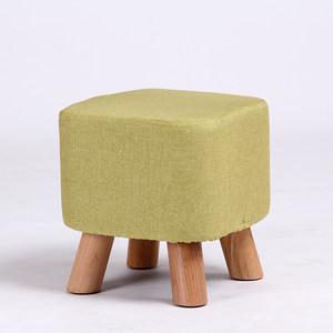 实木时尚创意布艺家用成人换鞋凳