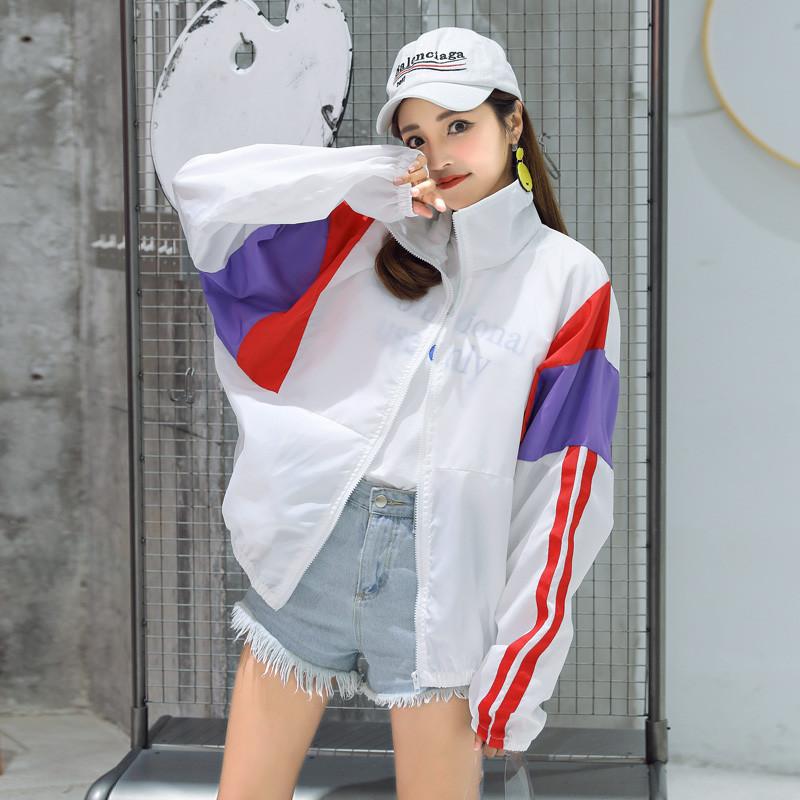 防晒衣女韩版宽松学生2020夏季新款百搭长袖开衫短款薄外套防晒服图片