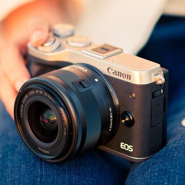 佳能微单反EOS M6(15-45)单电数码相机,送女友生日礼物