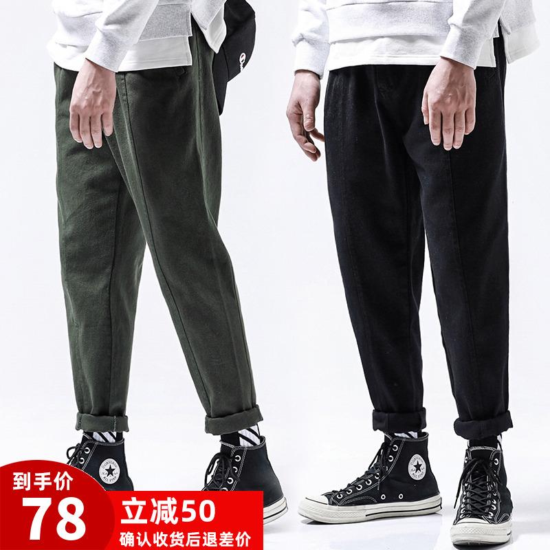 限8000张券男秋季美式宽松日系潮牌工装裤