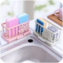 厨房水槽塑料沥水篮水池置物架水龙头海绵沥水收纳架抹布收纳篮
