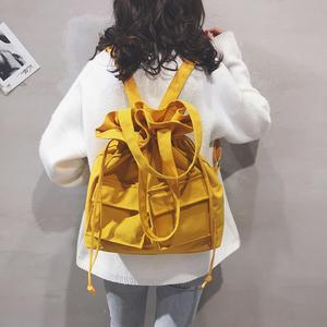 韩版包包女包2021新款纯色大容量帆布包个性文艺百搭学生双肩包潮