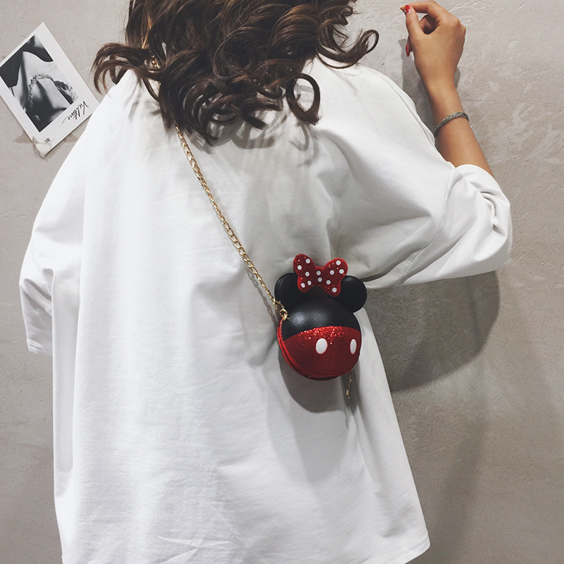 迷你小包包女包新款2019卡通可爱小圆包休闲少女链条单肩斜挎包潮