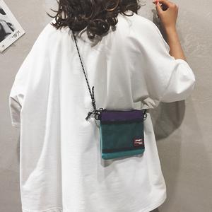 帆布小包包女包新款2021个性百搭单肩斜挎包纯色简约少女手机包潮