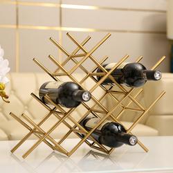 创意红酒酒架置物架客厅酒柜家用餐桌装饰品轻奢现代简约欧式摆件