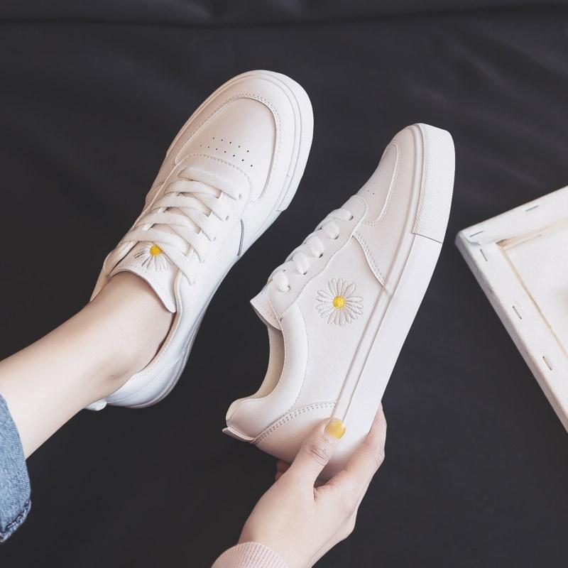 爆款小雏菊小白鞋女鞋2020年新款秋季流行百搭休闲ins街拍潮鞋子