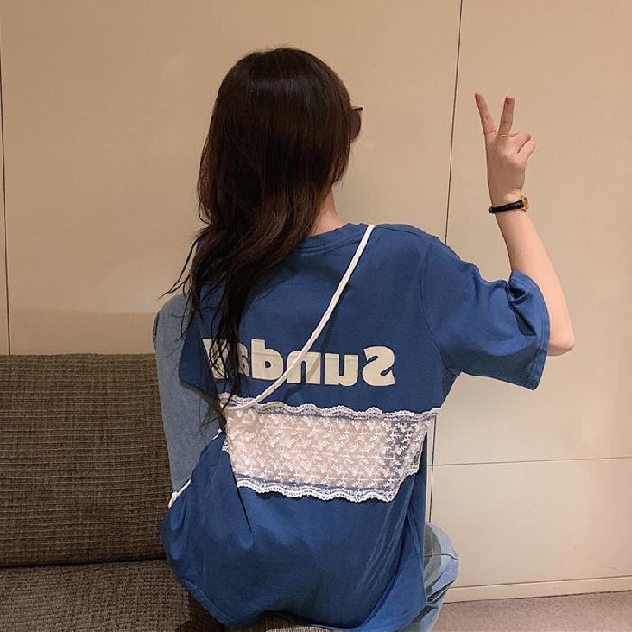 夏季韩版2021新款宽松设计感t恤