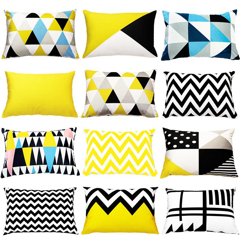 定做长方型北欧简约ins沙发抱枕