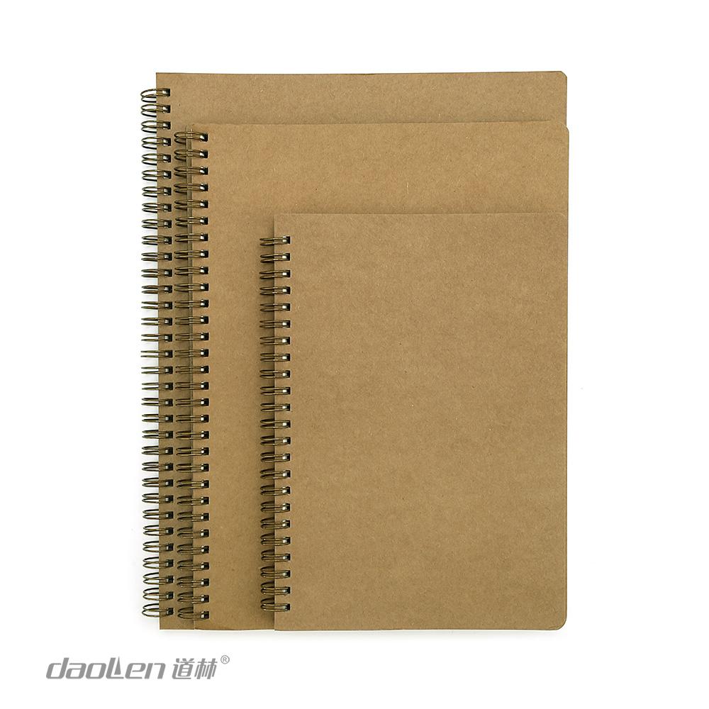 道林线圈本A4|B5|A5-80页本色牛皮简约加厚企业定制办公用品笔记