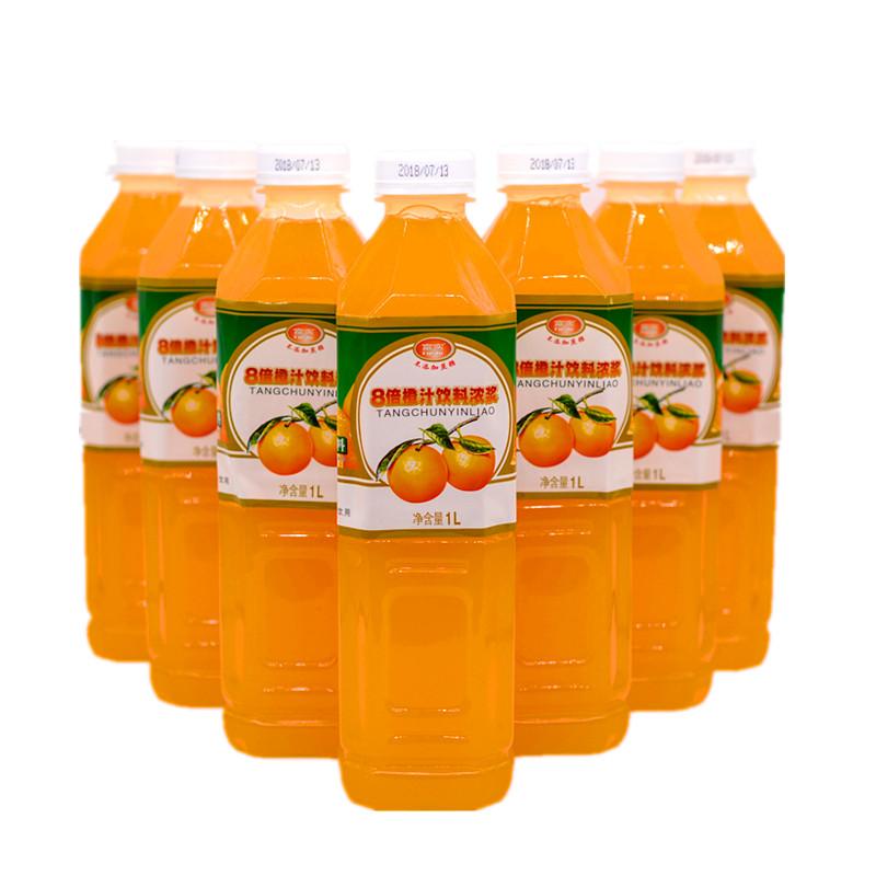 无糖果汁饮料富实木糖醇8倍浓缩橙汁桃汁浓浆1L糖尿人可以喝包邮