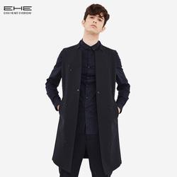 EHE男装 秋季新款韩版时尚修身个性时尚舒适都市长款立领男士马甲